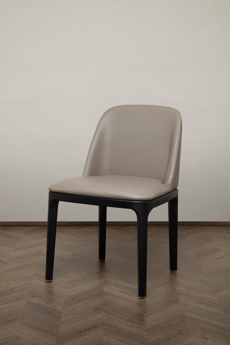 Gemma Dining Chair – Greige Läder