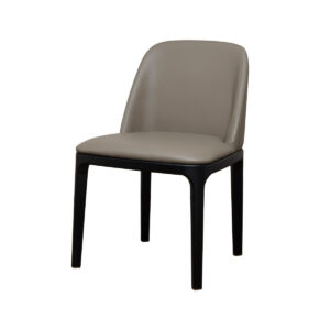 Gemma Dining Chair – Greige Leather