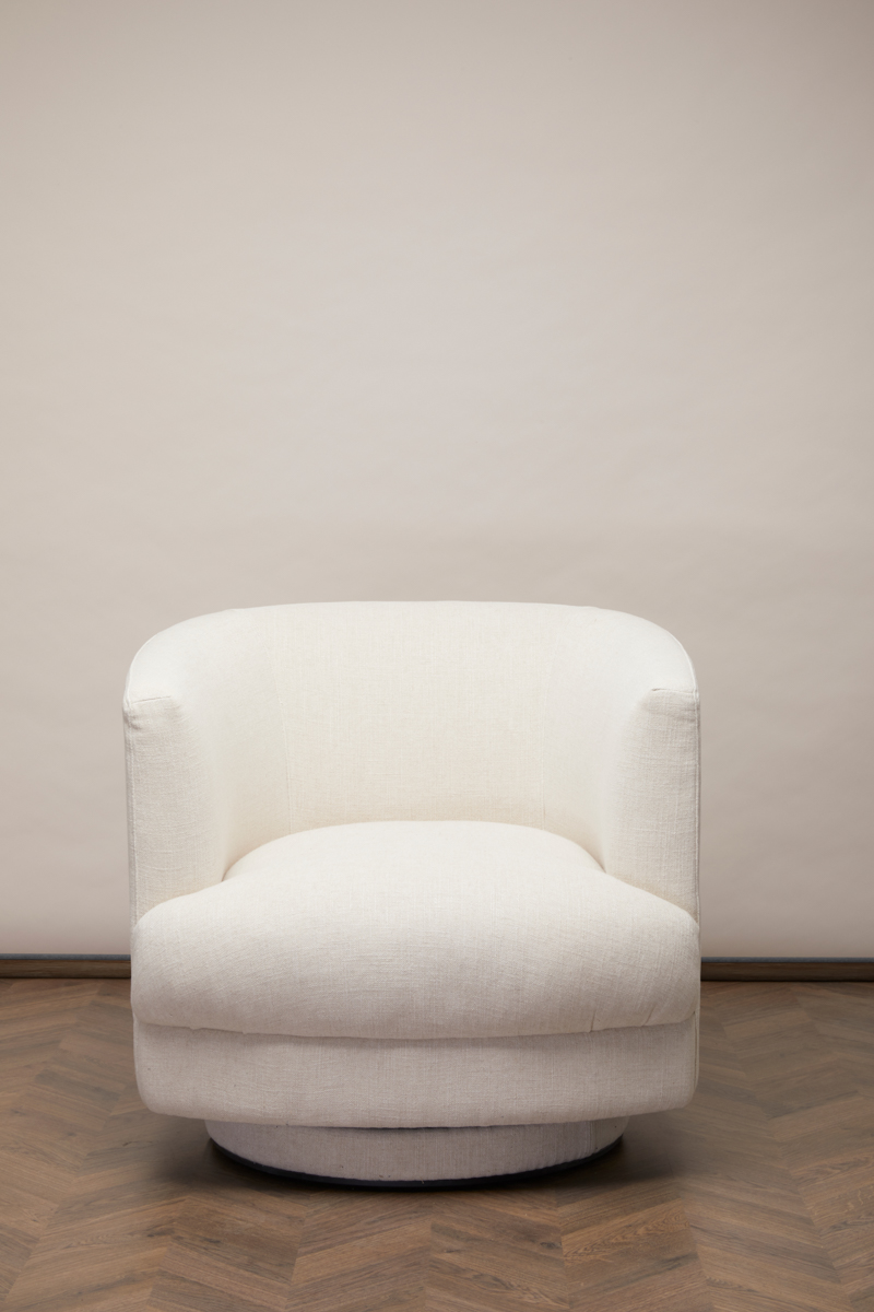 Cleo Swivel Chair – Antique White