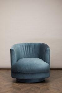 Cleo Swivel Chair – Blue Lagoon