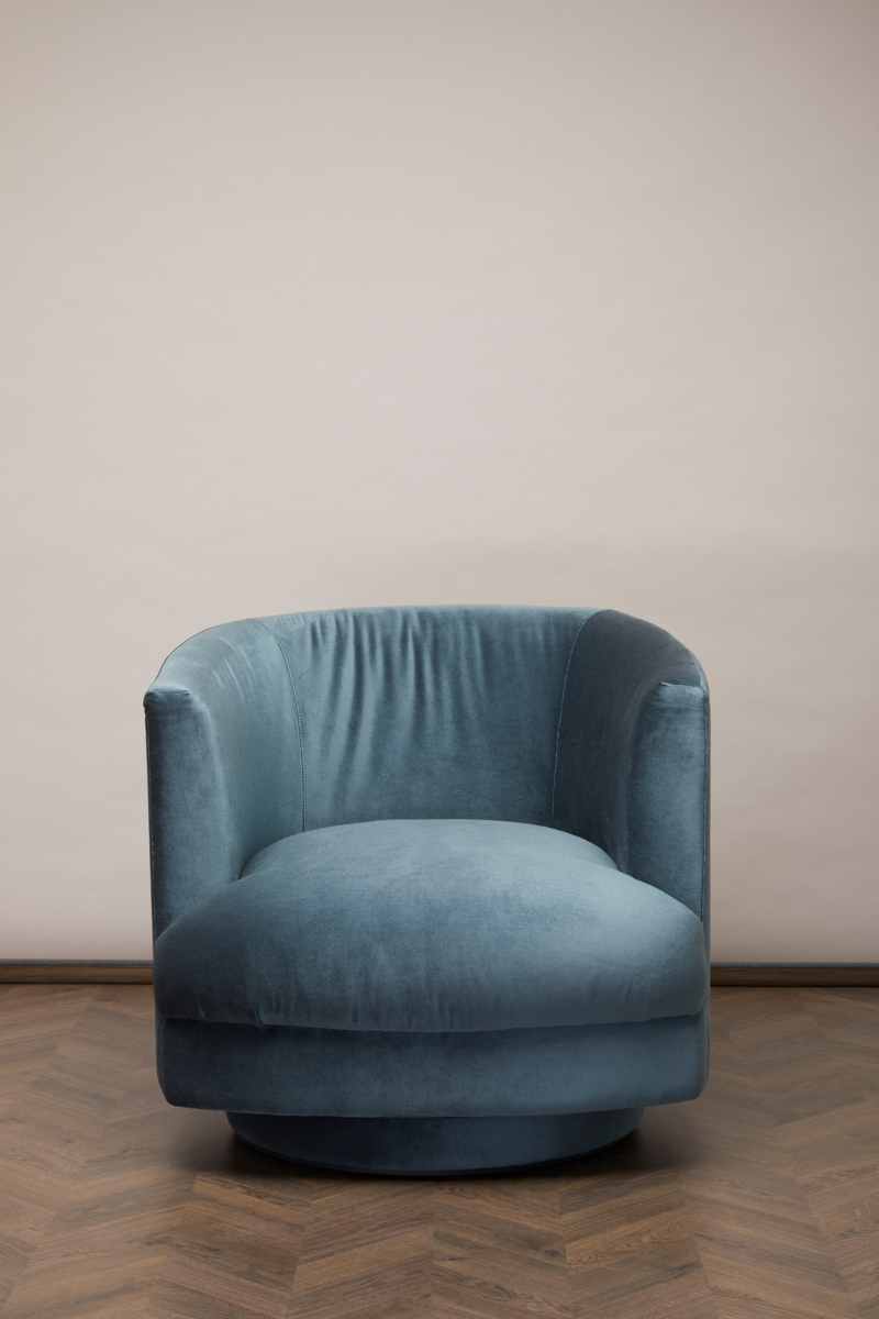 Cleo Swivel Chair – Blue Lagoon