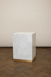 Quebec Side Table – White Carrara Marble