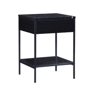 Erin Side Table – Black – Black Oak