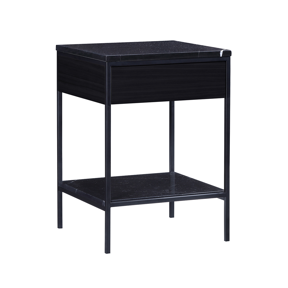 Erin Side Table – Black – Black Oak