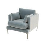 Bonham Armchair – Arctic Blue