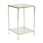 Fleur Side Table – Chrome