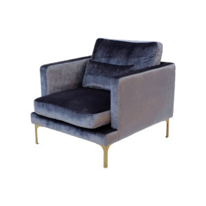Bonham Armchair – Blue Steel