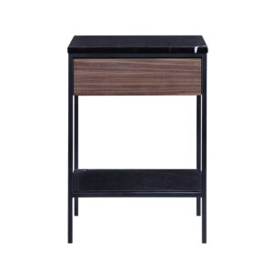 Erin Side Table – Black – Walnut