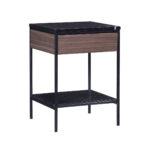 Erin Side Table – Black – Walnut