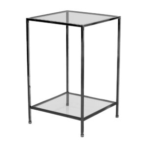 Fleur Side Table – Black Chrome