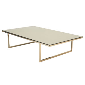 Robb Table – Polished Brass