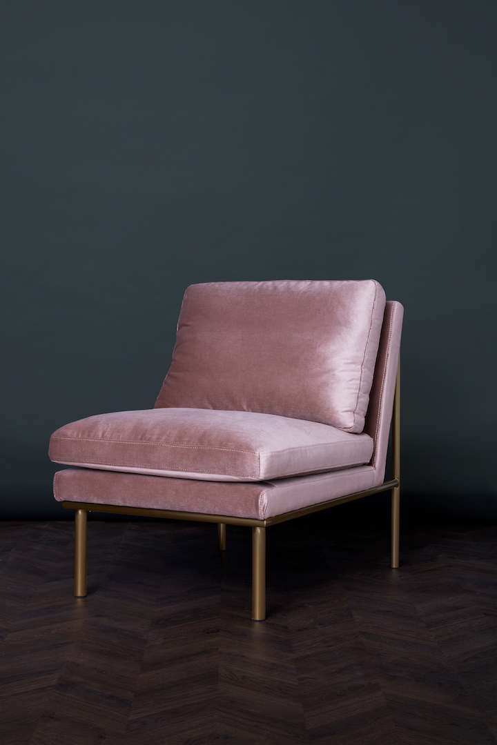 April Lounge Chair – Rosewater