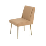 Art Dining Chair – Beige Leather