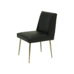 Art Dining Chair – Black Leather