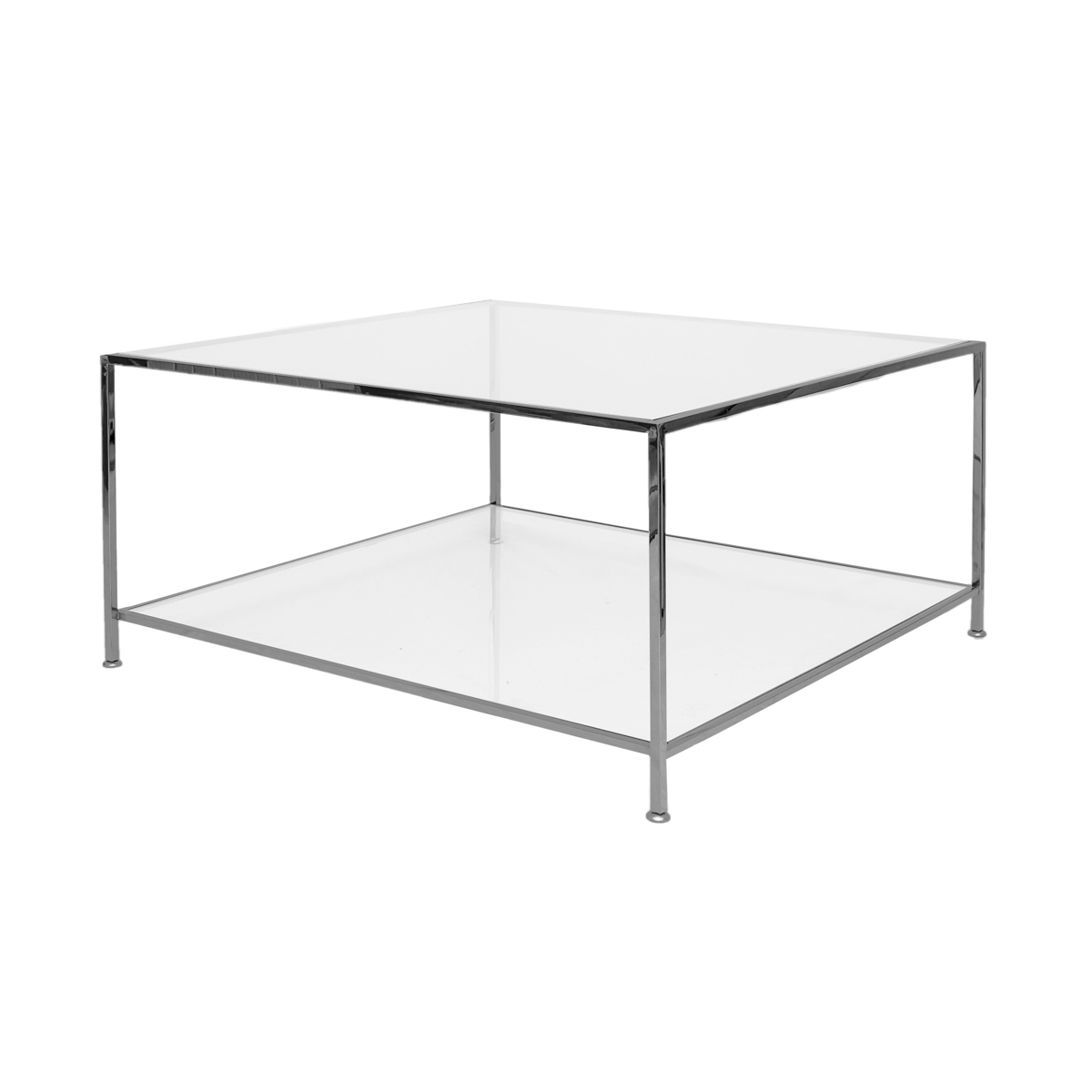 Big Square Table – Black Chrome