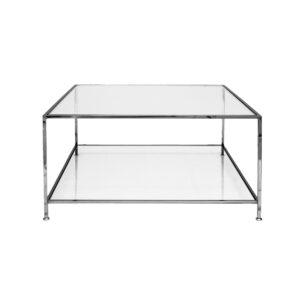 Big Square Table – Black Chrome