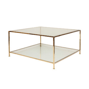 Big Square Table – Polished Brass