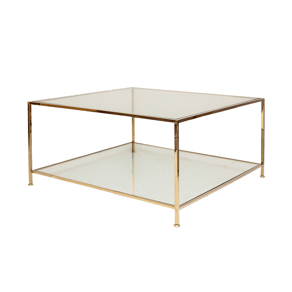 Big Square Table – Polerad Mässing