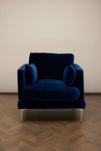 Bonham Armchair – Midnight Blue