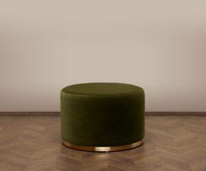 Cara Ottoman – Amazon Green