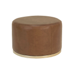 Cara Ottoman – Brown Leather