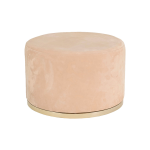 Cara Ottoman – Dusty Pink Suede