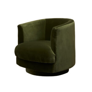 Cleo Swivel Fåtölj – Amazon Green