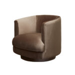 Cleo Swivel Chair – Nougat
