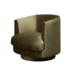 Cleo Swivel Chair – Olive