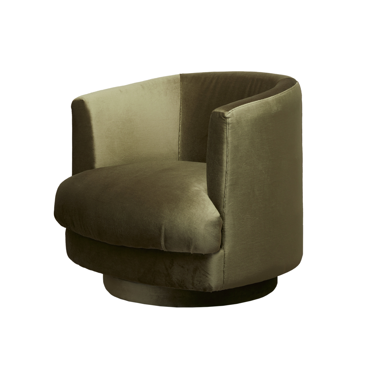Cleo Swivel Chair – Olive