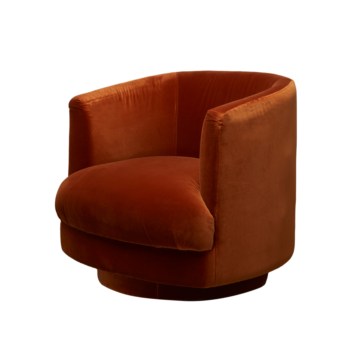 Cleo Swivel Fåtölj – Retro Orange