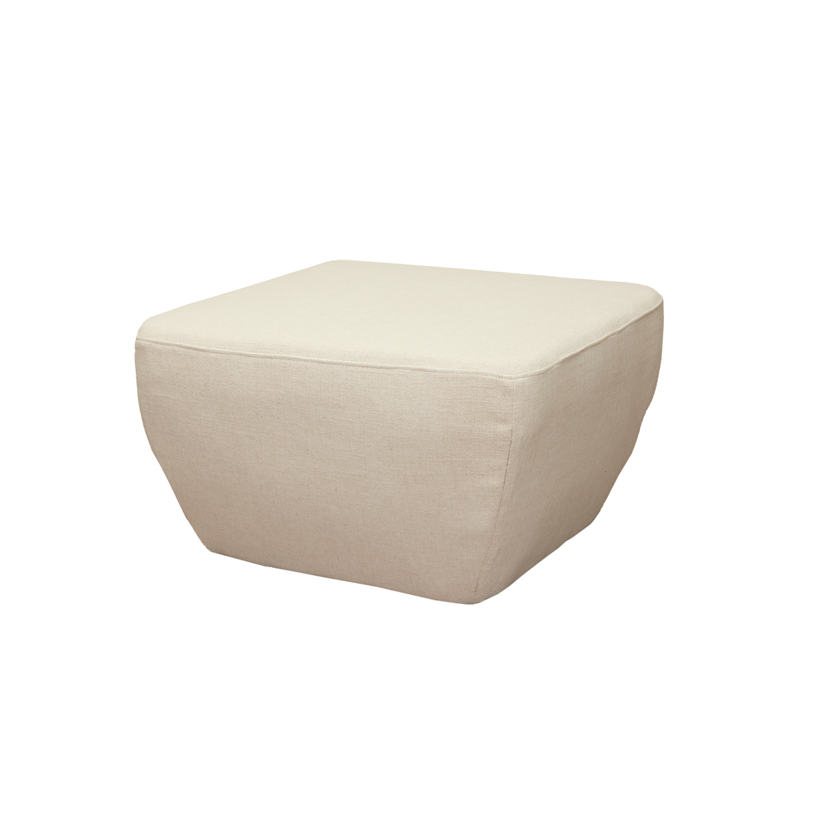 Diamond Ottoman – Antique White
