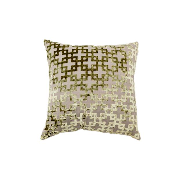 Emerald Maze Pillow