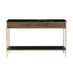 Erin Console Table – Mässing & Svart Ek
