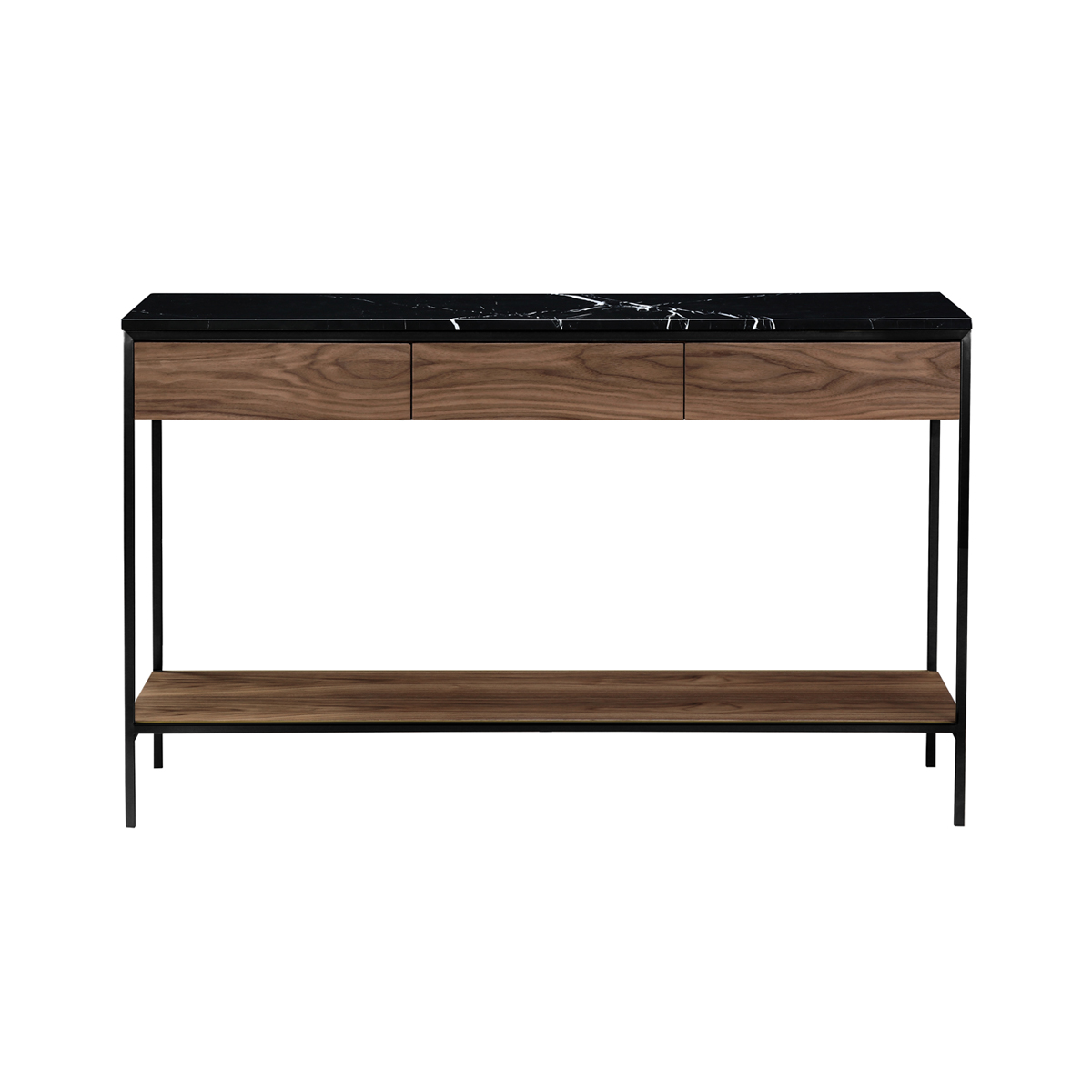Erin Console Table – Black & Walnut