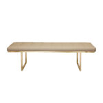 Fiona Bench – Light Beige Leather