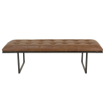 Fiona Bench – Brown Leather