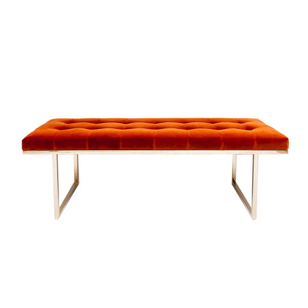 Fiona Bench – Orange Retro