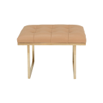 Fiona Ottoman – Beige Leather