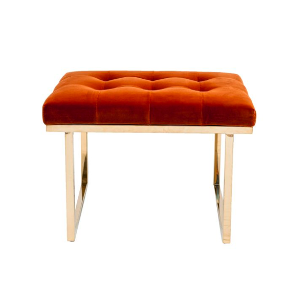 Fiona Ottoman – Retro Orange