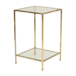 Fleur Side Table – Polerad Mässing