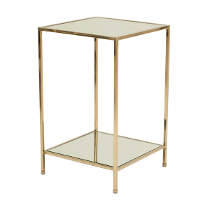 Fleur Side Table – Polished Brass