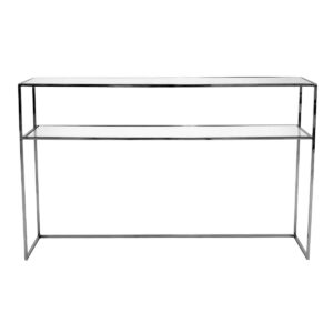 Gazelle Console Table – Black Chrome