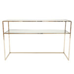 Gazelle Console Table – Polerad Mässing