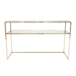 Gazelle Console Table  130 cm – Polished Brass