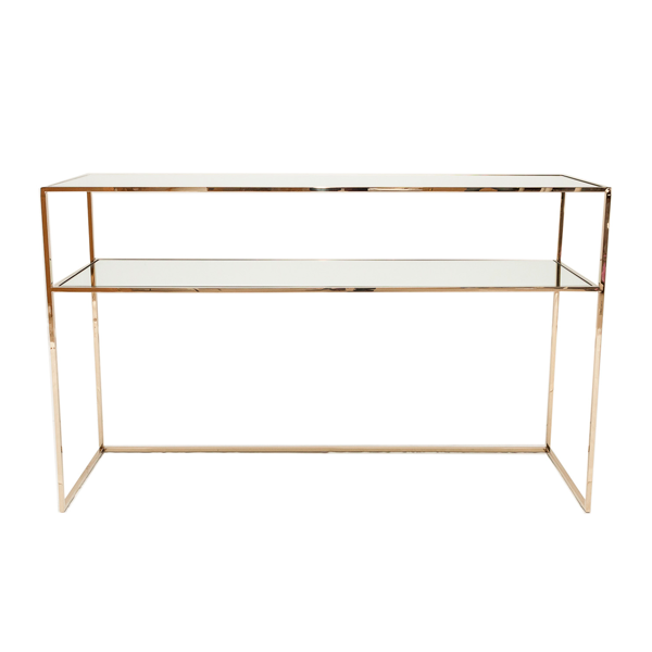 Gazelle Console Table  110 cm – Polished Brass