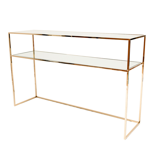 Gazelle Console Table – Polished Brass