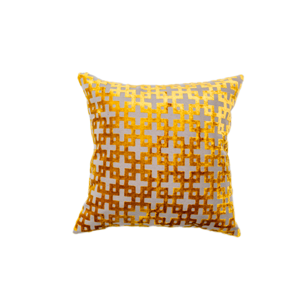 Golden Maze Pillow