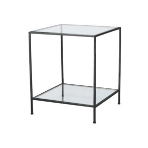 Fleur Side Table Large – Black Chrome