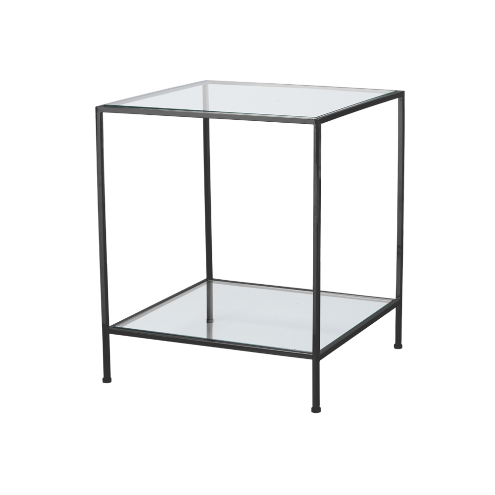 Fleur Side Table Large – Svart Krom